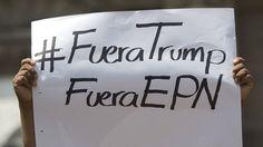 Cartel contra Donald Trump y Enrique Peña Nieto.
