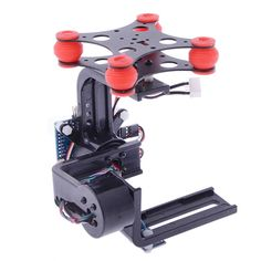 [USD61.36] [EUR56.83] [GBP43.88] HJ 2-Axis Camera Brushless Gimbal PTZ w/ BGC3.1 2-Axis Gimbal Controller for GoPro 3 / 2 / 1 FPV(Black)