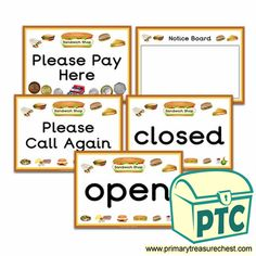 Sandwich Shop Role Play Resources - Primary Treasure Chest Role Play Shop, Role Play Areas, Sandwich Shops, Preschool Printables, Dramatic Play, Treasure Chest, Pretend Play, Shop Signs, High Quality Images