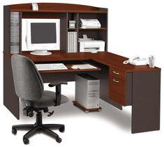 Bestar L-shaped computer desk workstation