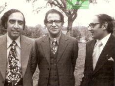 Three literary giants of Pakistan - from left, Ata ul Haq Qasmi, Ahmed Nadeem Qasmi & Amjad Islam Amjad