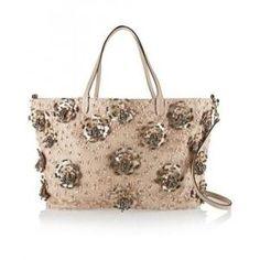 60% off Valentino - Shoulder Bag Floral Embellished Leather Blush - $1578 #valentino #shoulderbag #floral