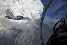 A developing pyrocumulus cloud above the Oregon Gulch fire, part of the Beaver Complex fire. Photographed from an Oregon Air National Guard F-15C fighter jet by James Haseltine on July 31, 2014, at 8:20 PM Pacific Daylight Time. (Source: Nasa Earth Observatory)