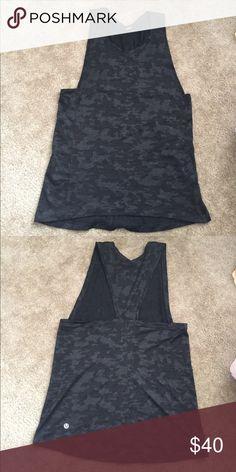 Lululemon Run For Days Tank Top Like new ... never worn. Black camo print. Very comfy. lululemon athletica Tops Tank Tops