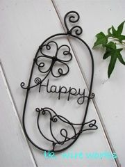 happyclover Wire Crafts, Jewelry Crafts, Diy And Crafts, Wire Wrapped Jewelry, Wire Jewelry, Wire Board, Wire Letters, 3doodler, Wire Wreath