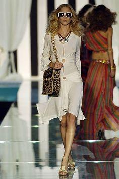 Roberto Cavalli Spring 2006 Ready-to-Wear Fashion Show - Raquel Zimmermann