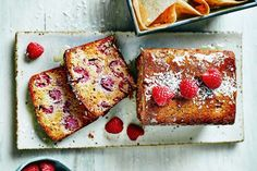 Raspberry & Coconut Breakfast Loaf Recipe from Clean Eating Alice Loaf Recipes, Quick Bread Recipes, Brunch Recipes, Cake Recipes, Breakfast Recipes, Healthy Recipes, Breakfast Cake, Brunch Ideas, Breakfast Dishes