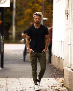 Mens street style summer - 45 Casual Men's Tshirt for Summer Street Style Mode Outfits, Casual Outfits, Men Casual, Summer Outfits, Casual Shirt, Dope Fashion, Mens Fashion, Fashion Styles, Fashion Ideas