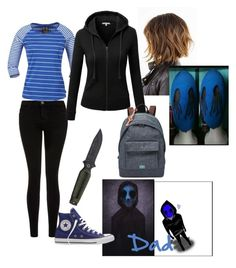 """Eyeless Jack's Daughter"" by maxxy656 ❤ liked on Polyvore featuring Current/Elliott, Musto, Converse, J.TOMSON and FOSSIL"
