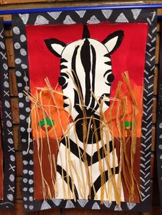 Zoo animal art projects ideas new Ideas African Art For Kids, African Art Projects, Animal Art Projects, African Crafts, Jungle Art Projects, Zebra Kunst, Zebra Art, Afrique Art, 4th Grade Art