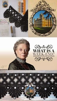 Edwardian Costume Choker - PennyWise: Ring Carson for Tea:Welcome back Downton Abbey