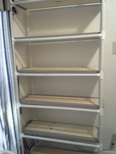 New storage closet organization diy pvc pipes 48 Ideas Pvc Pipe Storage, Pipe Shelves, Storage Shelves, Storage Drawers, Storage Ideas, Basket Shelves, Dresser Drawers, Storage Baskets, Diy Clothes Storage
