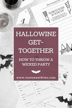 Halloween may look a little different for everyone this year because of the pandemic. If you're not sure what to do this year while staying safe for the holiday, why not plan a get together with your closest friends and taste some yummy wines? Better yet, treat yourself and your friends to a wicked HalloWINE get-together! A spooky celebration like this is the perfect way to chat over some wine because this year hasn't been easy for anyone! Halloween Flowers, Cute Halloween, Holidays Halloween, Halloween Ideas, Wine Tasting Card, Dinner Box, Closest Friends, Wine Tags, Diy Party