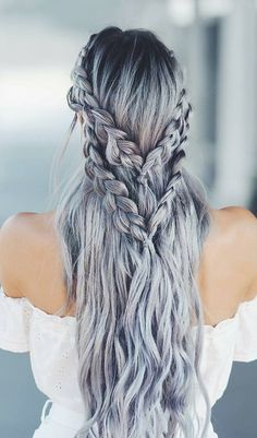 8 Halo Braid Hairstyles That Look Fresh And Elegant. It doesn& matter if you& into messy . Concert Hairstyles, Messy Hairstyles, Pretty Hairstyles, Wedding Hairstyles, Viking Hairstyles, Teenage Hairstyles, Updo Hairstyle, Wedding Updo, Medium Hair Styles