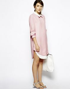Sister Jane Layered Shirt Dress   how cute would this be in oxblood, black, or charcoal?