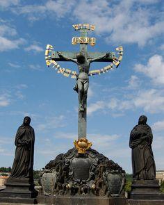 17th Century Crucifix, Charles Bridge Prague Czech Republic; photo by Wayne Higgs