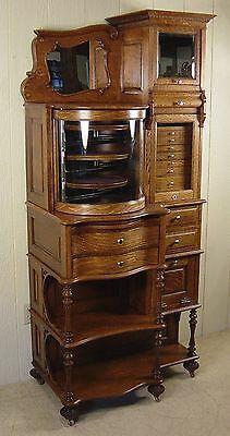 Antique Oak Ransom & Randolph Co. Dental Cabinet Model #65 | eBay Painting Wooden Furniture, Wood Furniture, Living Room Furniture, Furniture Design, Garden Furniture, Outdoor Furniture, Porch Furniture, Furniture Repair, Furniture Storage