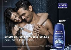 This is a stereotype for women, showing that will help you shave if you buy their product. That you will get a hot and sexy girl like her to shave your chest.