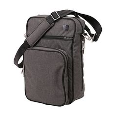 "Ju-Ju-Be®️ Onyx Helix Messenger Diaper Bag in Chrome | ""Everyone  will be surprised when Dad pulls a binky or a bottle out of Ju-Ju-Be's  Onyx Helix Messenger Bag in Chrome. As functional as a regular diaper  bag, the ultra-contemporary messenger style will be comfortable for both  mothers and fathers to carry."" {Ad}"