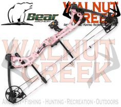 Bear Apprentice 3 Realtree Pink Camo 50lb Bow Package Right Hand A4AP21505R #Bear