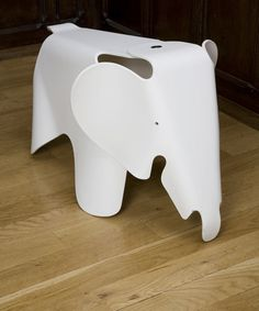 White Eames Elephant, from the Vitra collection at Liberty London