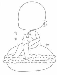 Make your gacha oc Chibi Girl Drawings, Anime Drawings Sketches, Kawaii Drawings, Cute Drawings, Base Anime, Chibi Body, Chibi Sketch, Drawing Body Poses, Anime Drawing Styles