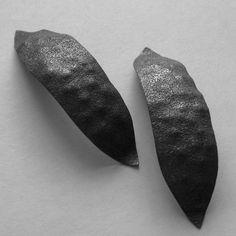 Large Sterling Silver Seed Pod Earrings by Iliana Tosheva