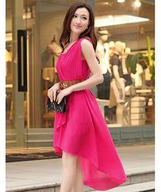 Korean Fashion Rose Lace Vest Pleated Dress