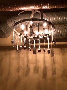 Chandelier at Jolly Pumpkin restaurant in Ann Arbor, MI