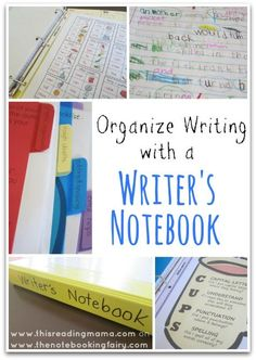 Organize Writing with a Writer's Notebook