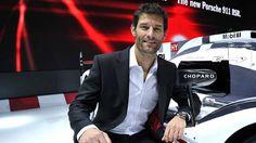 New chapter: Mark Webber in Geneva this week.
