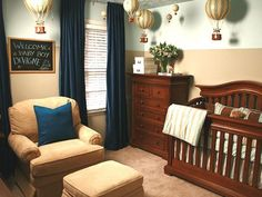 Hot Air Balloon nursery - I remember watching this episode a few years ago on Deserving Design and have always loved this nursery...precious.