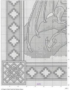 Cross-stitch A Dragon's Best Friend, part 3..  color charts on parts 7 - 11...   Gallery.ru / Фото #3 - Дракон2 - inbal1995