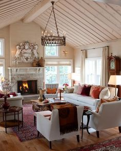 Cottage Living-rooms from Sarah Richardson on HGTV - This furniture arrangement would work well in family room. Living Room Update, Home Living Room, Living Room Designs, Living Room Decor, Living Spaces, Small Living, Cozy Living, Cottage Living, Country Living