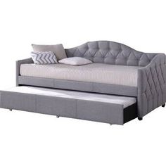 Hillsdale Furniture - Jamie Daybed With Trundle, Gray Fabric - Daybeds Hillsdale Furniture, Furniture Styles, Bedroom Furniture, Furniture Design, Kitchen Furniture, Cheap Furniture, Crate Furniture, Furniture Nyc, Classic Furniture