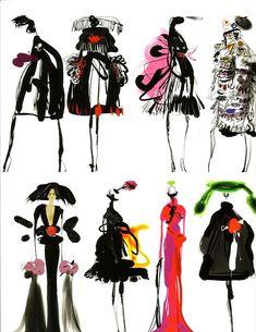 Fashion design sketches 527695281311884255 - Fashion Illustration – Inter Style Paris ™ – Croquis Christian Lacroix Source by lucattonin Fashion Illustration Sketches, Illustration Mode, Fashion Sketchbook, Fashion Design Sketches, Fashion Drawings, Christian Lacroix, Image Fashion, Fashion Art, Fashion News