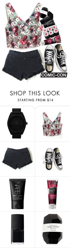 """""""Floral Fusion"""" by modern-instinct ❤ liked on Polyvore featuring adidas Originals, Victoria's Secret, NARS Cosmetics, Korres, Cassia, floralprint, summer2015, weekendstyle, comicconfashion and lucluc"""