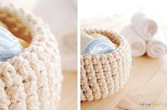 Crochet bowls for Bathroom
