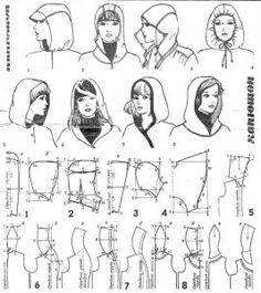 hoods patternmaking would be a good guide for knitting too