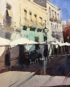 Álvaro Castagnet  #alvarocastagnet #acuarela #watercolor #galeriadeartetrinotortosa #ventadearte