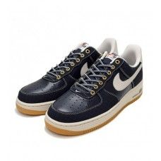 wholesale dealer ff558 c0328 Nike Homens - Barato Nike Air Force 1 Low Homens Tenis De Corrida  EmbroideVermelho Azul 0304