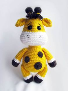 This cute crochet cow amigurumi is super soft and huggable! Create a friendly crochet cow using our step-by-step Cuddle Me Cow Amigurumi Pattern. Crochet Giraffe Pattern, Crochet Animal Patterns, Stuffed Animal Patterns, Crochet Patterns Amigurumi, Crochet Animals, Crochet Dolls, Stuffed Animals, Amigurumi Giraffe, Giraffe Toy