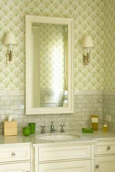 tile placement mirror bathroom