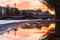 Sunset on the Seine River in Paris by Loïc Lagarde on 500px