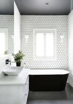98 Best White Bathroom Tile Images On Pinterest Modern And Home Decor
