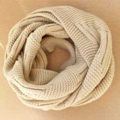 [grxjy540017]Roman Style Simple Leisure Pure Color Infinity Scarf