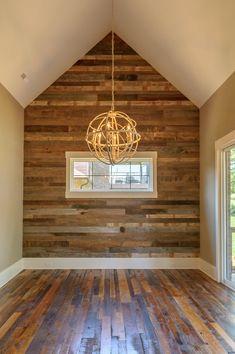 Reclaimed Wood Flooring and Natural Faced Barn wood accent wall Barn Siding, Wood Siding, Wood Floor On Wall, Wood Interior Walls, Barn Wood Walls, Wood Paneling Decor, Flooring On Walls, Knotty Pine Walls, Laminate Wall
