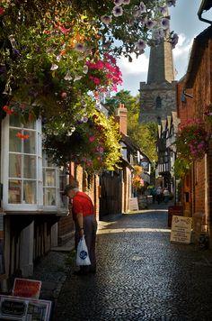 Ah, Ledbury--so many fond memories. [Church Lane, Ledbury, Herefordshire, England (by Alex F Burgess)] The Places Youll Go, Places To Go, English Village, British Countryside, Herefordshire, England And Scotland, British Isles, Places To Travel, United Kingdom