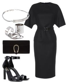 Untitled #3486 by dkfashion-658 on Polyvore featuring polyvore fashion style Martin Grant Yves Saint Laurent Gucci Michael Kors clothing