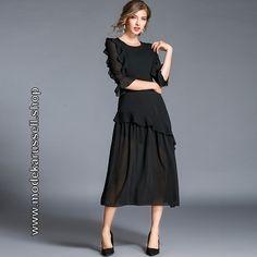 Kleider schwarz wadenlang